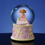 Bedtime Prayers Girl Rotating Water globe By San Francisco Music Box Co.