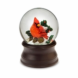 Cardinal Winter Time Snow Globe by San Francisco Music Box Co.