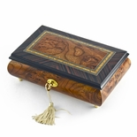 Classic Style 30 Note Italian Music Jewelry Box with Lock and Key