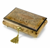Contemporary 30 Note Italian Musical Jewelry Box with Arabesque Design