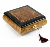 """Contemporary Hand-Made """"Classic"""" Wood Inlay 36 Note Music Box"""