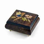 Enchanting Fairy and Flower Wood Inlay Music Box
