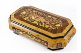 Extraordinary 22 Note Grand Musical Theme Music Jewelry  Box with Lift Up Tray
