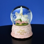 Faith & 2 Doves Musical Water Globe By San Francisco Music Box Co.