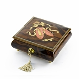 Handcrafted 18 Note Ballet Pointe Shoes Inlay Music Box with Spinning Ballerina