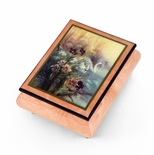 "Handcrafted Ercolano Music Box Featuring ""Swan With Daylilies"" by Lena Liu"