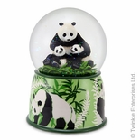 Heartwarming Mother Panda and Cubs Animated Musical Globe by Twinkle� Waterglobes