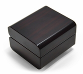 Small Dark Wood Glossy Distinctive 18 Note Music Box