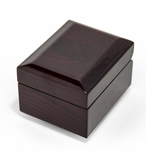 Perfect Little 18 Note Musical Box w. Dark Glossy Wooden Finish