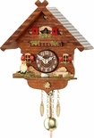 Kuckulino Black Forest Chalet Style Clock with Quartz Mmovement