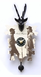 "Kuckulino Black Forest Quartz Clock with Stag Head ""Servus Bayern"" by Trenkle Uhren"