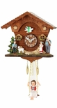 Kuckulino Black Forest Quartz Clock with Swing Girl