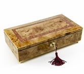 Lavish 22 Note Hand Made Classic Style Music Jewelry Box with Lock and Key