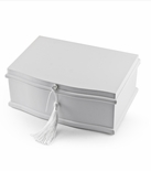 Matte White 30 Note Ballerina Musical Jewelry Box with Pull Out Tray