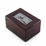 Modern 18 NOTE 5 X 3 Photo Frame Musical Jewelry Box