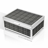 Modern 22 Note Designer Plaid Panels with Silver Finish Musical Jewelry Box