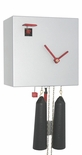 "Modern VDS Certified 8 Day Silver Romba Art Cuckoo Clock by Rombach and Haas (Extra 20% Off Sale Price - Code ""romba20"")"