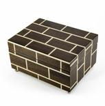 Modern Masonry Design Hand Made Sorrento Italian Reuge 22 Note Music Jewelry Box