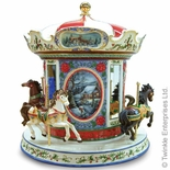 Musical Victorian Winter Carousel Cookie Car by Twinkle� Waterglobes