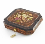 Perfectly Hand Crafted 22 Note Floral Music Jewelry Box