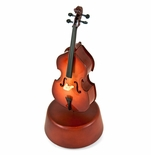 Prestigious 18 Note Miniature Classical Double Bass with Rotating Musical Base