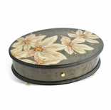 Reuge Elegant Safran  heme Inlay 3.72 Note Music Box Titled �Safran Large�