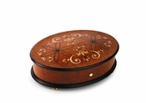 Reuge Handcrafted Flowers and Rosettes Inlay 3.72 Note Music Box Titled Clara