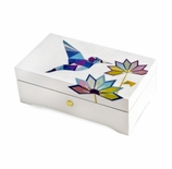 Reuge Limited Edition Art of Origami 3.72 Note Music Box Titled Colibrii