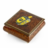 Traditional 22 Note Jewish Dreidel Wood Inlay Musical Jewelry Box