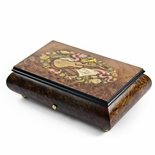Traditional Swiss 36 Note Musical Instrument Theme Inlay Grand Music Box