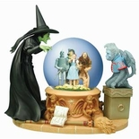 Wizard Of Oz Musical Water Globe Wicked Witch Peering Foursome