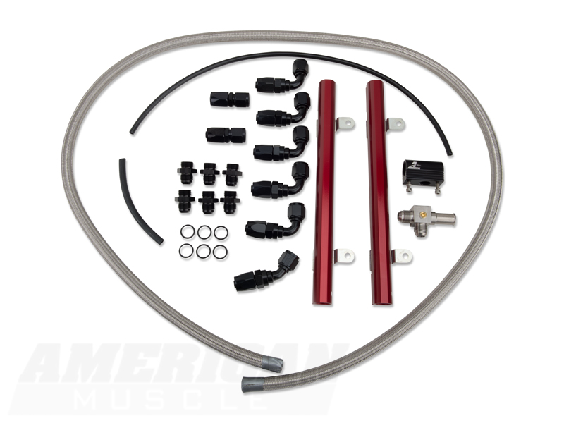aeromotive mustang fuel rail kit 14124  05-09 gt