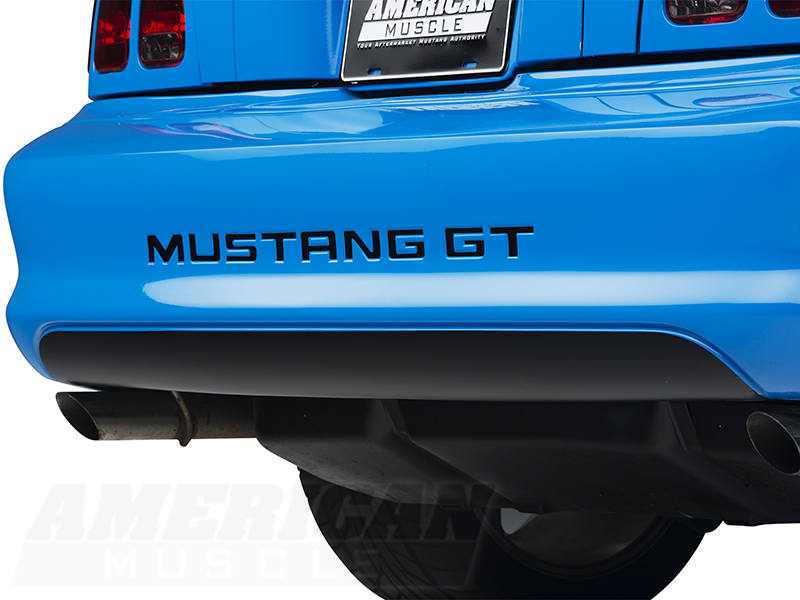 Mustang matte black lower rear valance blackout decal 94 for Garage seat valence