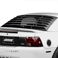 How to install mmd rear window louvers on your 1994 2004 for 2000 mustang rear window louvers
