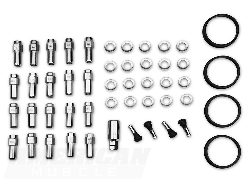 Race Star Direct Drill Closed End Mustang Lug Nut Kit 20