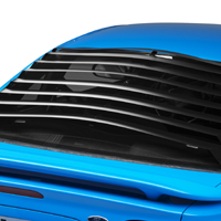 Mustang smooth aluminum rear window louver 39 94 39 04 for 2000 mustang rear window louvers