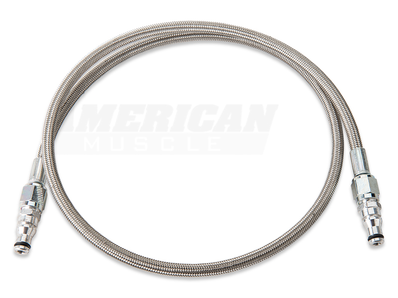 Steel Braided Hydraulic Lines : Sr performance braided stainless steel hydraulic mustang