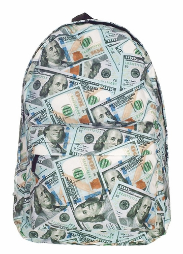 100 Dollars Backpack by Zohra