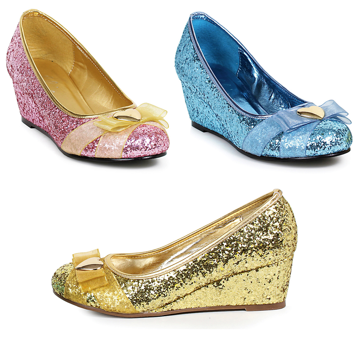 2 Inch Wedge Glitter Princess Pump Shoes a9f97a166516