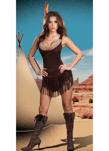 2-Piece Beaded Indian Maiden Costume