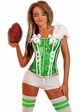 2-Piece Green Football Fantasy Corset Costume  inset 2