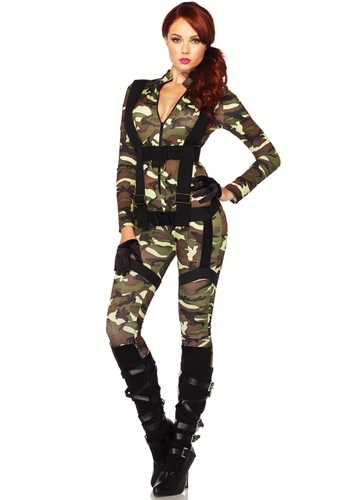 2-Piece Pretty Paratrooper Costume