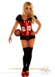 2-Piece Red Football Fantasy Corset Costume inset 2
