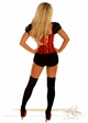 2-Piece Red Football Fantasy Corset Costume inset 4