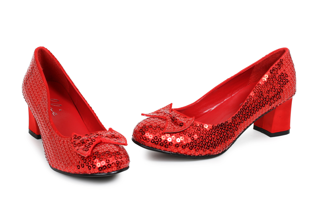 de8bdc3717916 2 Inch Red Sequin Pumps with Bow Judy