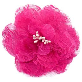 "3""  Retro Lace Flower Hair Clips (available in 26 colors)"