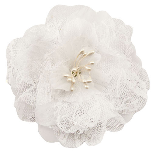 4 retro lace white flower hair clips mightylinksfo