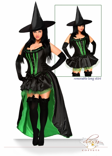 5-Piece Deluxe Wicked Witch Corset Costume