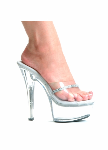 6 quot clear stiletto heel platform shoes with stripe