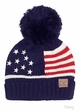 American Flag Patriotic Knit Beanie Hat by CC inset 2